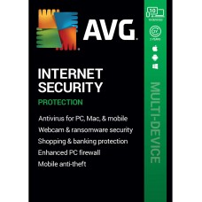 AVG Internet Security 2020, 10 Multi-Devices 2 Years (DOWNLOAD VERSION BY EMAIL)