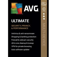 AVG ULTIMATE 2020, 10 Multi-Devices 2 Years with VPN - (DOWNLOAD VERSION BY EMAIL)