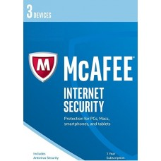 McAfee Internet Security 2017, 3 Multi-Devices 1 Year, DIGITAL DOWNLOAD