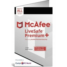 McAfee LiveSafe PREMIUM + (WITH VPN) 2020, Unlimited Devices, 1 Year - (DOWNLOAD VERSION BY EMAIL)