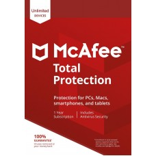 McAfee Total Protection 2020, Un-limited Multi-Devices, 1 Year, DIGITAL DOWNLOAD